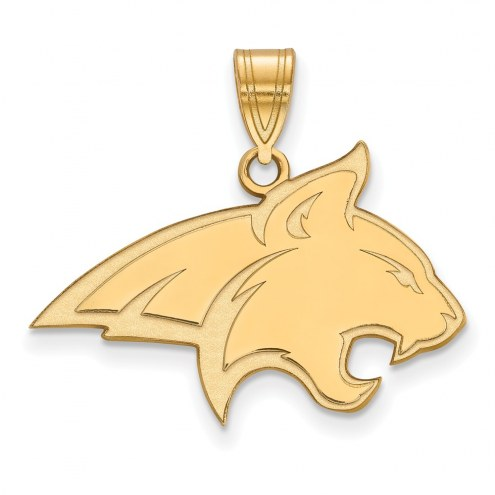 Montana State Bobcats NCAA Sterling Silver Gold Plated Large Pendant
