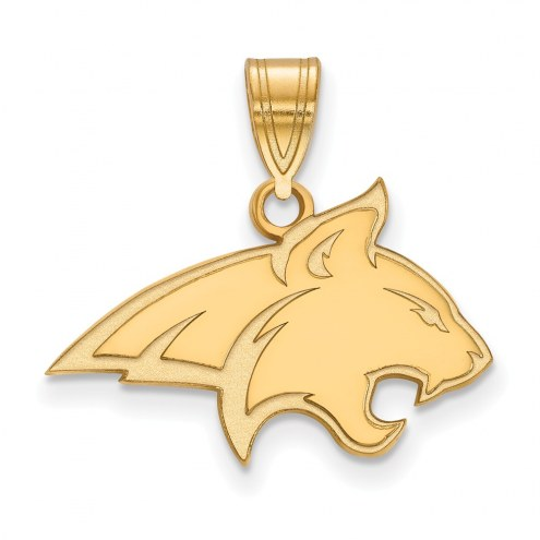 Montana State Bobcats NCAA Sterling Silver Gold Plated Medium Pendant
