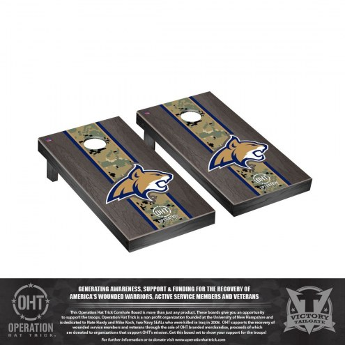 Montana State Bobcats Operation Hat Trick Stained Cornhole Game Set