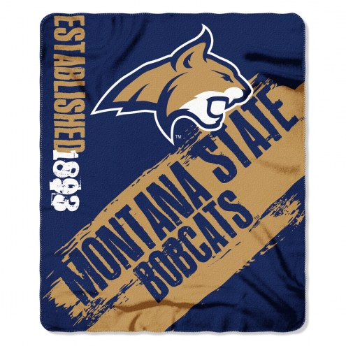 Montana State Bobcats Painted Fleece Blanket