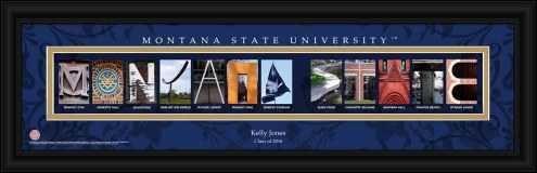 Montana State Bobcats Personalized Campus Letter Art
