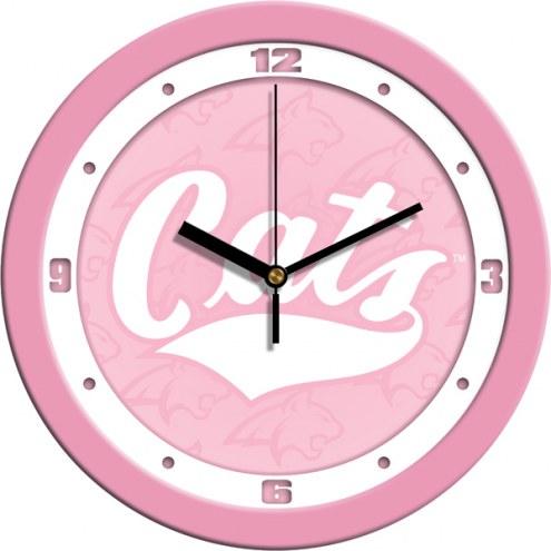 Montana State Bobcats Pink Wall Clock