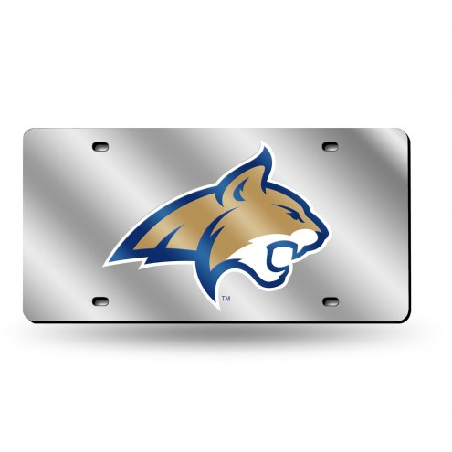 Montana State Bobcats Silver Laser License Plate