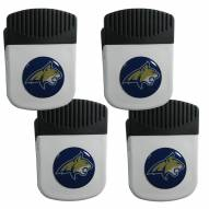 Montana State Bobcats 4 Pack Chip Clip Magnet with Bottle Opener