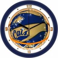 Montana State Bobcats Slam Dunk Wall Clock