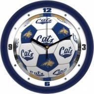 Montana State Bobcats Soccer Wall Clock