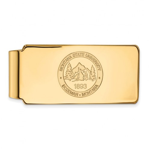 Montana State Bobcats Sterling Silver Gold Plated Crest Money Clip