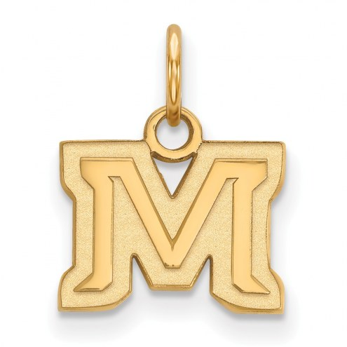 Montana State Bobcats Sterling Silver Gold Plated Extra Small Pendant