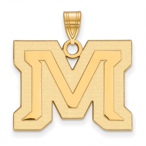 Montana State Bobcats Sterling Silver Gold Plated Large Pendant