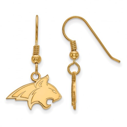 Montana State Bobcats Sterling Silver Gold Plated Small Dangle Earrings