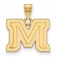 Montana State Bobcats Sterling Silver Gold Plated Small Pendant