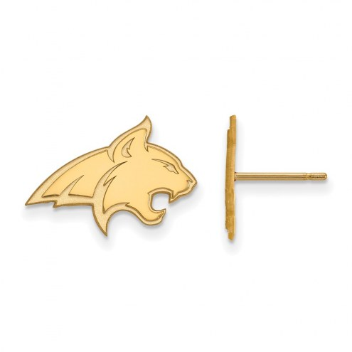 Montana State Bobcats Sterling Silver Gold Plated Small Post Earrings