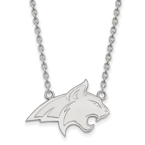 Montana State Bobcats Sterling Silver Large Pendant Necklace