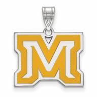 Montana State Bobcats Sterling Silver Medium Enameled Pendant