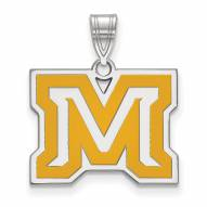 Montana State Bobcats Sterling Silver Medium Enameled Pendant
