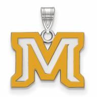 Montana State Bobcats Sterling Silver Small Enamel Pendant