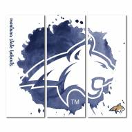 Montana State Bobcats Triptych Watercolor Canvas Wall Art