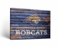 Montana State Bobcats Weathered Canvas Wall Art