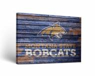 Montana State Bobcats Weathered Canvas Wall Art