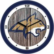 Montana State Bobcats Weathered Wood Wall Clock
