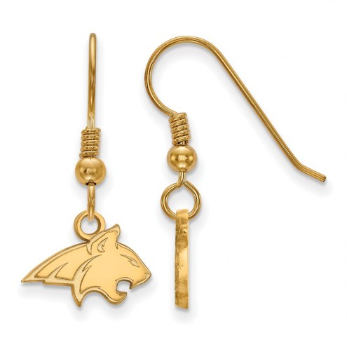 Montana State Bobcats NCAA Sterling Silver Gold Plated Extra Small Dangle Earrings