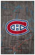 """Montreal Canadiens 11"""" x 19"""" City Map Sign"""