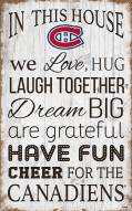 """Montreal Canadiens 11"""" x 19"""" In This House Sign"""