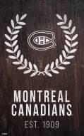 "Montreal Canadiens 11"" x 19"" Laurel Wreath Sign"