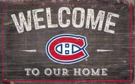 """Montreal Canadiens 11"""" x 19"""" Welcome to Our Home Sign"""