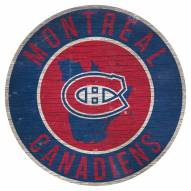 """Montreal Canadiens 12"""" Circle with State Sign"""