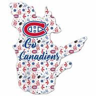 """Montreal Canadiens 12"""" Floral State Sign"""