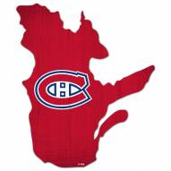 """Montreal Canadiens 12"""" Team Color Logo State Sign"""