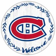 """Montreal Canadiens 12"""" Welcome Circle Sign"""