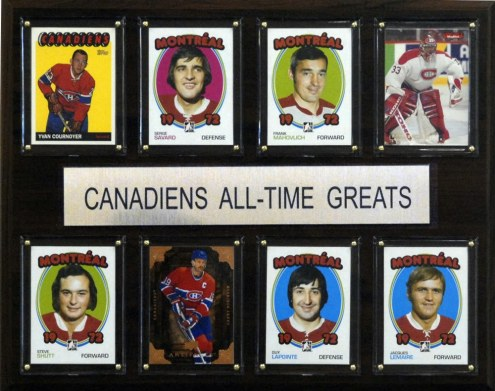 "Montreal Canadiens 12"" x 15"" All-Time Greats Plaque"