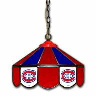 "Montreal Canadiens 14"" Glass Pub Lamp"