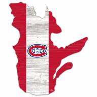 """Montreal Canadiens 15"""" Flag Cutout Sign"""