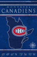 "Montreal Canadiens 17"" x 26"" Coordinates Sign"