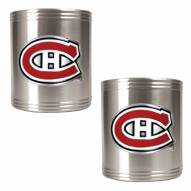 Montreal Canadiens 2-Piece Stainless Steel Can Koozie Set - Primary Logo