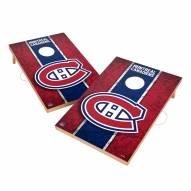 Montreal Canadiens 2' x 3' Vintage Wood Cornhole Game