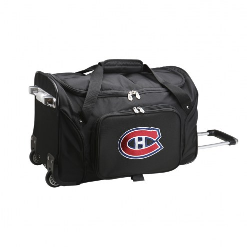 """Montreal Canadiens 22"""" Rolling Duffle Bag"""
