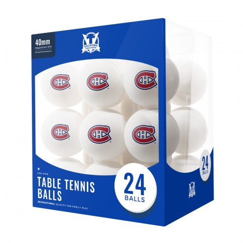 Montreal Canadiens 24 Count Ping Pong Balls
