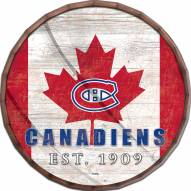 "Montreal Canadiens 24"" Flag Barrel Top"