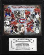 """Montreal Canadiens 12"""" x 15"""" 24-Time Stanley Cup Champions Plaque"""