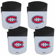 Montreal Canadiens 4 Pack Chip Clip Magnet with Bottle Opener