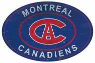 """Montreal Canadiens 46"""" Heritage Logo Oval Sign"""
