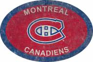 """Montreal Canadiens 46"""" Team Color Oval Sign"""