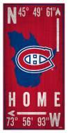 "Montreal Canadiens 6"" x 12"" Coordinates Sign"