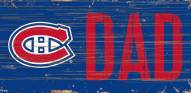 """Montreal Canadiens 6"""" x 12"""" Dad Sign"""