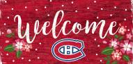 """Montreal Canadiens 6"""" x 12"""" Floral Welcome Sign"""