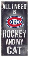 """Montreal Canadiens 6"""" x 12"""" Hockey & My Cat Sign"""